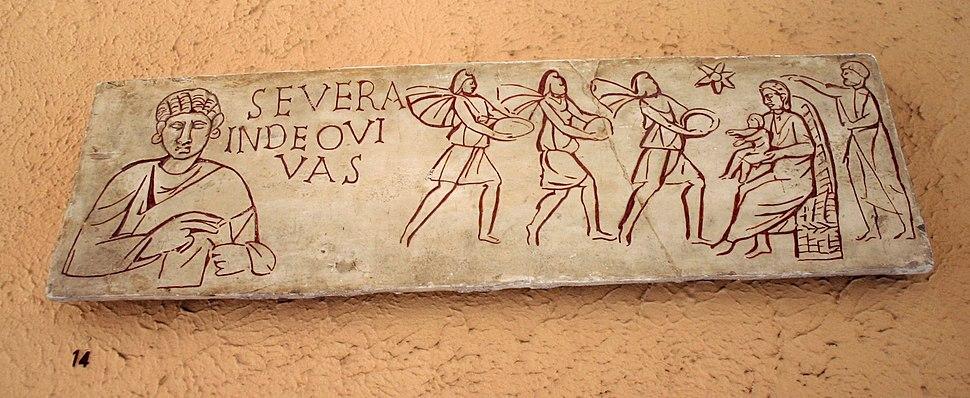 XV14 - Roma, Museo civiltà romana - Adorazione dei Magi - sec III dC - Foto Giovanni Dall'Orto 12-Apr-2008