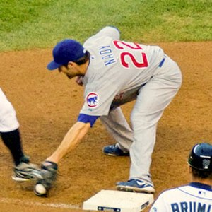 Xavier Nady - Nady playing first base for the Chicago Cubs in 2010