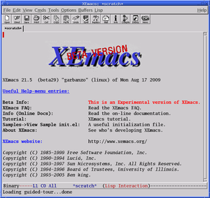 XEmacs 21.5.29 (beta), featuring antialiased fonts