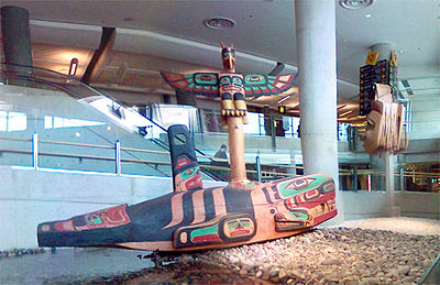 Artwork inside Vancouver International Airport