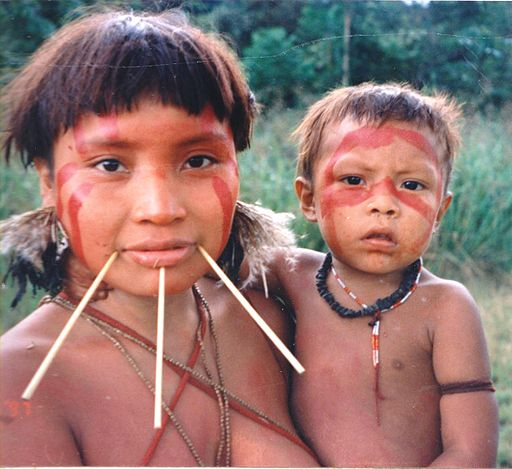 Yanomami Woman & Child