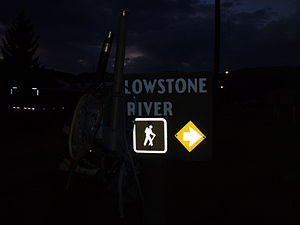 Trails of Yellowstone National Park - Yellowstone River trailhead at dawn