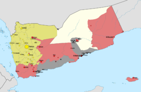 Yemen war detailed map (18 Jan 2015).png