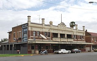Yenda Town in New South Wales, Australia