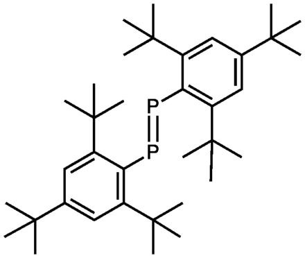 A stable diphosphene, a derivative of phosphorus(I). YoshifujiR2P2.png