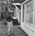Yuen Chin performing home energy audit for Seattle City Light, 1993 (50166856626).jpg