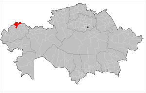 Location of Zelenov District in Kazakhstan