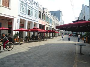 Bo'ai Road area - Zhongshan Road after restoration