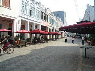 Bo'ai Road area - Zhongshan Road after restoration