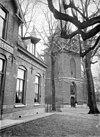 zicht op toren, die in de steigers staat - lunteren - 20143074 - rce