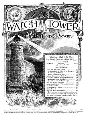 The Watchtower - Zion's Watch Tower and Herald of Christ's Presence, October 1, 1907