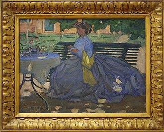 Bernard Boutet de Monvel - Image: Zittende vrouw in een tuin Bernard Boutet de Monvel