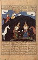 """Elias and Khizr at the Fountain of Life', Folio from a Shahnama (Book of Kings) of Firdausi MET DT227775.jpg"
