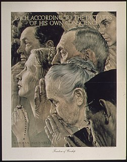 <i>Freedom of Worship</i> (painting) Painting by Norman Rockwell