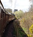 'Leander', Jubilee Class locomotive and train at Longannet, Fife, Scotland.jpg