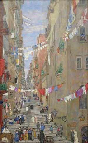Anders Castus Svarstad - Palonetto Santa Lucia, Naples (1909)