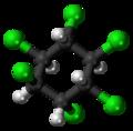 (-)-alpha-Hexachlorocyclohexane molecule ball.png