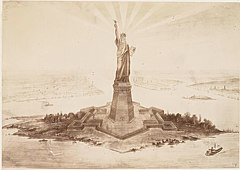 (Photograph of a drawing of the Statue of Liberty in Upper N - (3110144972).jpg
