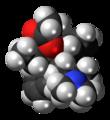 (R,R)-Alphacetylmethadol molecule spacefill.png