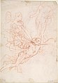 (R.)Figure Studies- Standing Nude Figure, Putti, and a Man's Head (V.) Figure Studies- A Flying and a Standing Man MET DP808252.jpg