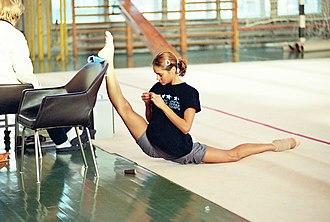 Flexibility (anatomy) - An oversplit by former Olympic gymnast Irina Tchachina