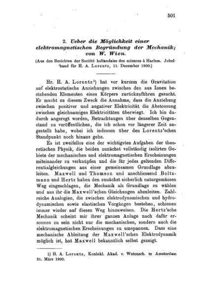 File:Über die Möglichkeit einer elektromagnetischen Begründung der Mechanik.djvu