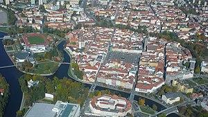České Budějovice - Old town in mid-October 2008