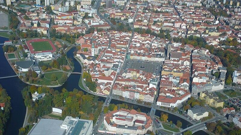 Soubor:České Budějovice - centrum letecky.jpg