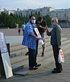 Анатолий Свечников в одиночном пикете в Екатеринбурге 6 июля 2020 года.jpg