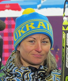 Valentyna Semerenko Ukrainian biathlete