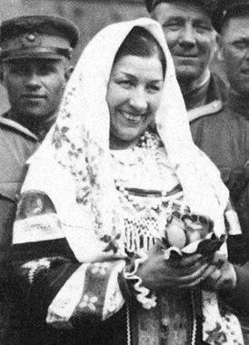 Лидия Русланова в Берлине. 1945 год