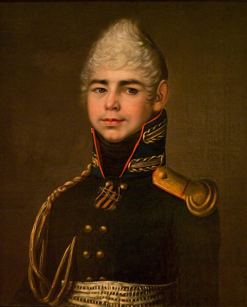 Неизвестный художник - портрет поручика Павла Г.  Бибикова (1805) .jpg