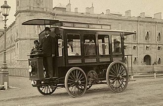 Automotive industry in Russia - Hippolyte Romanov's electric bus in Gatchina