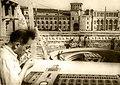 Сафарян Самвел Аракелович на стройке второго Дома правительства Армянской ССР на площади Ленина.jpg