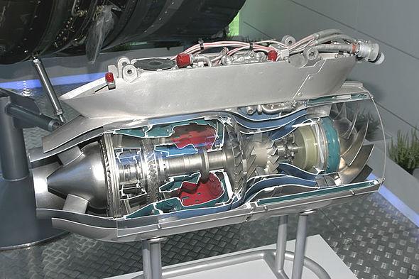 Модель турбореактивного двигателя своими руками 70