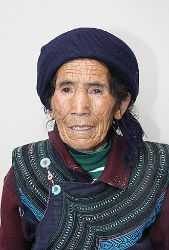 Yi people - Yi woman in traditional dress