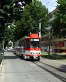 027 tram 109 approaching Nordfriedhof.png