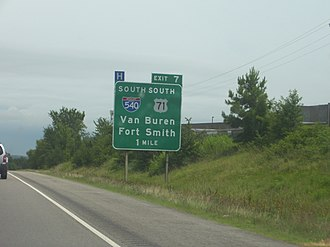 Interstate 40 in Arkansas - Image: 040i ar exit 007