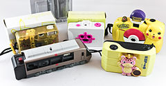 0428 Toy Camera Collection Pickachu x2 Robot Booska Romance Car EXE (5873491680).jpg