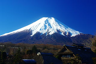 Mount Fuji Volcano in Yamanashi and Shizuoka Prefectures, Japan