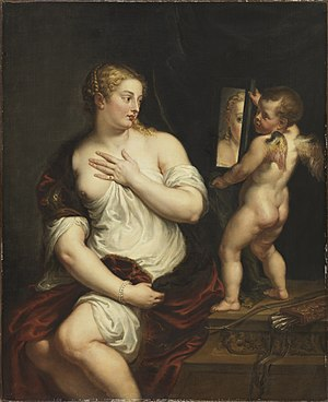 Thyssen-Bornemisza Museum - Venus and Cupid holding a mirror, by Peter Paul Rubens