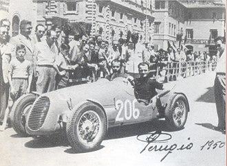 Bandini 1100 siluro - Ilario Bandini at Perugia in 1950