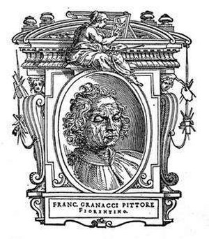 Francesco Granacci - Illustration of Francesco Granacci from Le Vite by Giorgio Vasari, edition of 1568