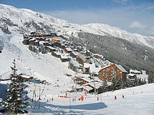 Station de Méribel-Mottaret en hiver