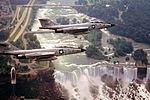 136th Fighter-Interceptor Squadron - McDonnell F-101 Voodoos over Niagra Falls.jpg