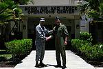 13 Air Force commander greets RIMPAC Combined Force Air Component Commander 120702-F-QZ430-001.jpg