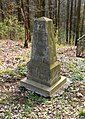 141. Svíb - Pískovcová typová pyramida na společném hrobě pruského por. Carla von Wintzingerode od 3. magdeburského pěšího pluku č. 66, pruského por. Heinricha Kamlaha od 4. magdeburského pěšího pluku.jpg