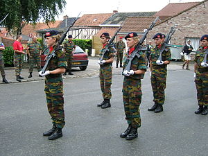 14th Air Defence Artillery Regiment (Belgium) - Drill demonstration platoon of 14A