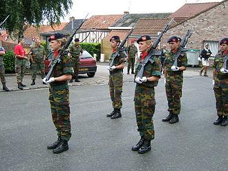 14th Air Defence Artillery Regiment (Belgium) - Drill demonstration platoon of 14A