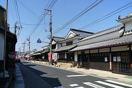 旧山陽道矢掛宿の景観